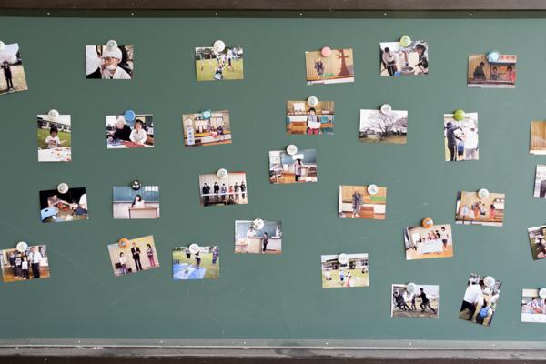 黒板の写真 中学年教室