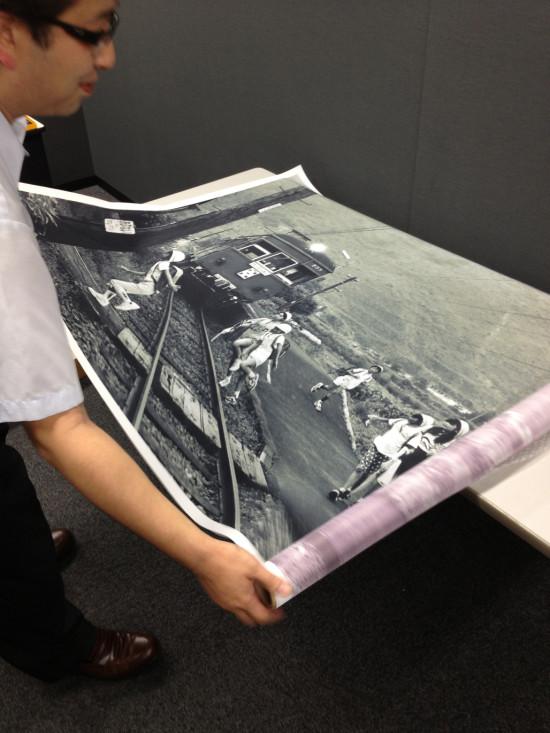 今回、初めて作成した大型プリント 1000×1500