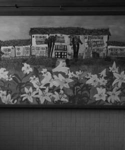 大湫小学校 玄関の絵
