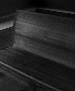 美濃神海駅のベンチ